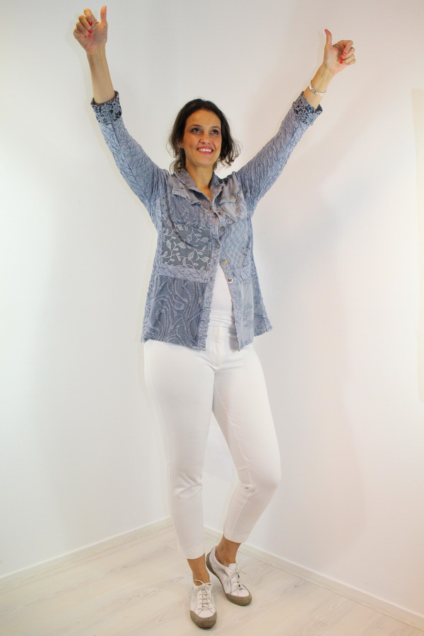 Blouse Valery  Argento-marmer 700bl
