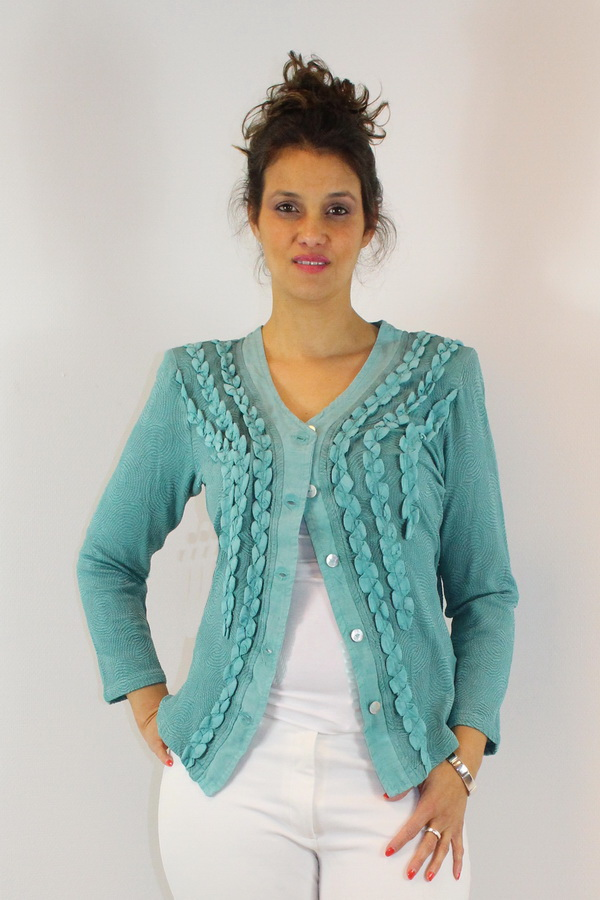 Cardigan Christala New Petrolio 725c
